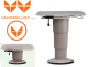 Folding table support with swivel mechanism