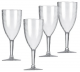 Acrylic wine glass - clear